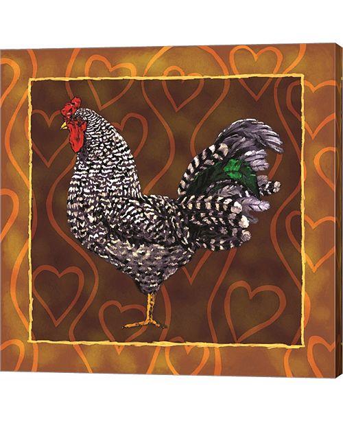 Metaverse Rooster 3 by Jeff Maraska Canvas Art