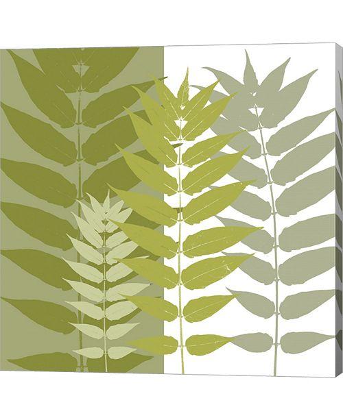 Metaverse Garden Greens by Erin Clark Canvas Art