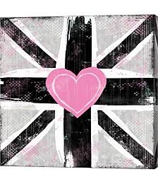Union Jack Heart I by Louise Carey Canvas Art