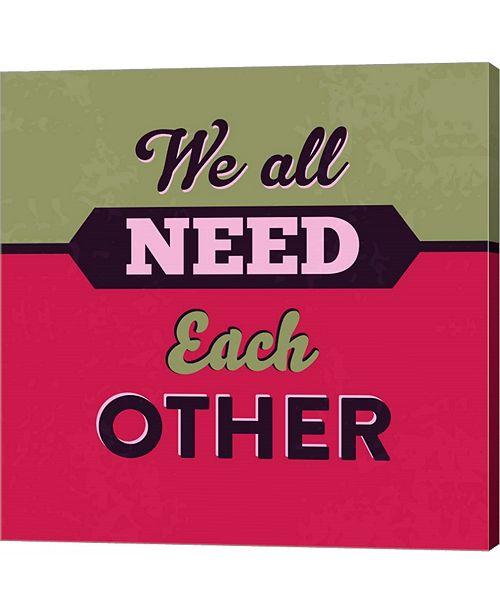 Metaverse We All Need Each Other 1 by Lorand Okos Canvas Art