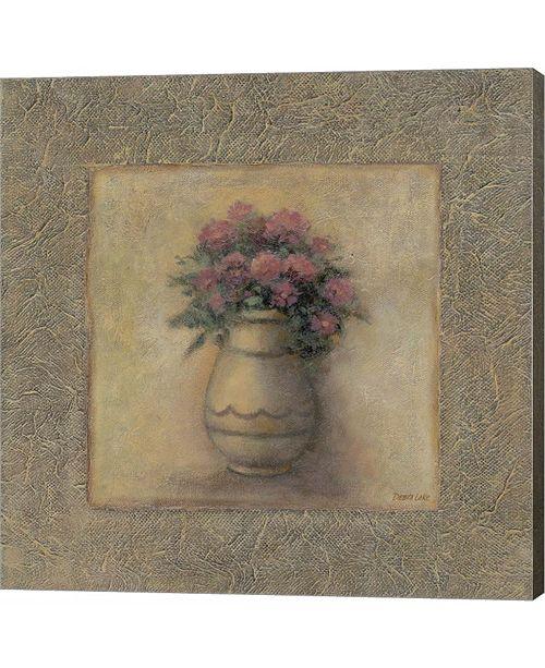 Metaverse Red Flowers in Vase 2 by Debra Lake Canvas Art