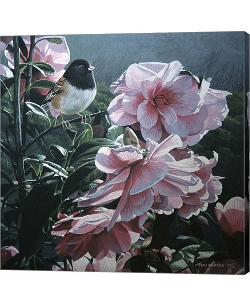 Metaverse Junco and Camelia by Ron Parker Canvas Art