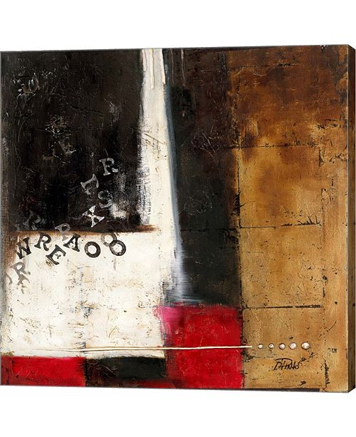 Metaverse Red Contemporary IV by Patricia Pinto Canvas Art