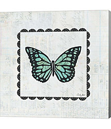 Butterfly Stamp by Courtney Prahl Canvas Art