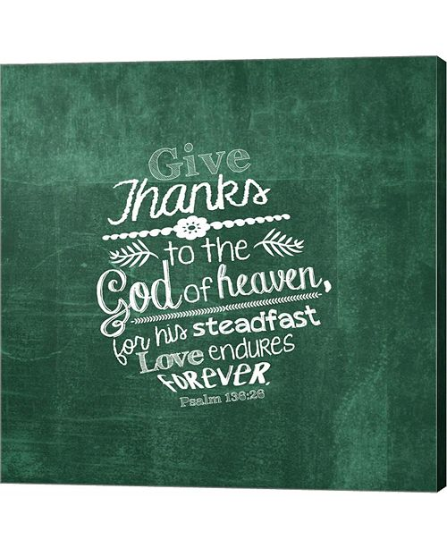 Metaverse Psalm 136 26, Give Thanks, Green by inspire Me Canvas Art
