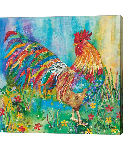 Metaverse Rooster by Lisa Morales Canvas Art