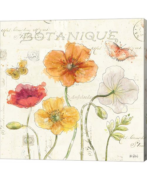 Metaverse Painted Poppies II by Katie Pertiet Canvas Art