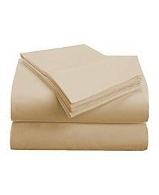 Superior Prestige 1500 Series Stripe Sheet Set - California King - White
