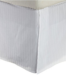 Superior 600 Thread Count Cotton Rich Scroll Park Bed Skirt - Queen - White