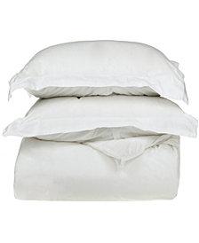 Superior 400 Thread Count Premium Combed Cotton Solid Duvet Set - King/California King