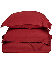 Superior 400 Thread Count Premium Combed Cotton Solid Duvet Set - Full/Queen