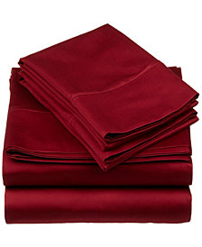 Superior 530 Thread Count Premium Combed Cotton Solid Sheet Set - King - White