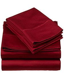 Superior 530 Thread Count Premium Combed Cotton Solid Sheet Set - Split King - White