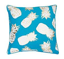 20 FF Capri Breeze Gold Saugus Pineapple Raised Foil Printed Pillow