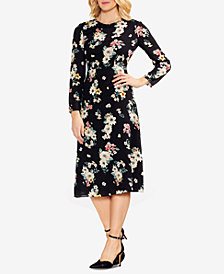 Vince Camuto Floral-Print Midi Dress, Created for Macy's