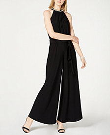 Betsey Johnson Imitation-Pearl Jumpsuit