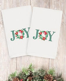CLOSEOUT!  Christmas Joy 100% Turkish Cotton 2-Pc. Hand Towel Set