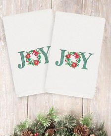 CLOSEOUT! Linum Home Christmas Joy 100% Turkish Cotton 2-Pc. Hand Towel Set