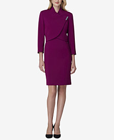 Tahari ASL Petite Envelope-Collar Jacket & Dress Suit