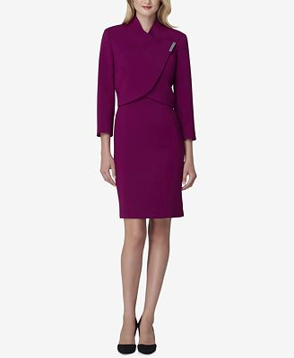 Tahari Asl Bar Closure Dress Suit Wear To Work Women Macy S