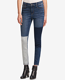 DKNY Patchwork Skinny Jeans, Created for Macy's
