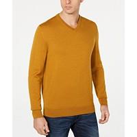 Club Room Men's Merino Performance V-Neck Sweater (Gold Dust)