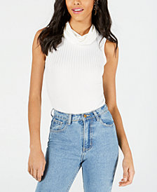 PROJECT 28 NYC Ribbed Cowlneck Bodysuit