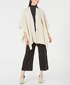Cashmere Textured Sweater Cape