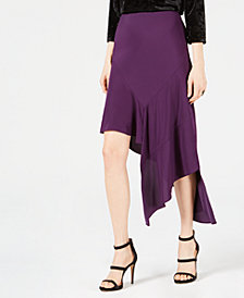 Bar III Asymmetrical Midi Skirt, Created for Macy's