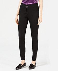 Bar III Ponté-Knit Skinny Pants, Created for Macy's