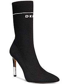 DKNY Women's Robbi Sock Booties, Created for Macy's