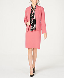 Nine West Kiss-Front Jacket, Tie-Neck Blouse & Stretch Skirt