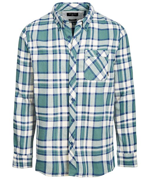 Quiksilver Men S Burnsfield Plaid Flannel Shirt Reviews Casual
