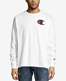 Champion Men's Long Sleeve Logo T-Shirt