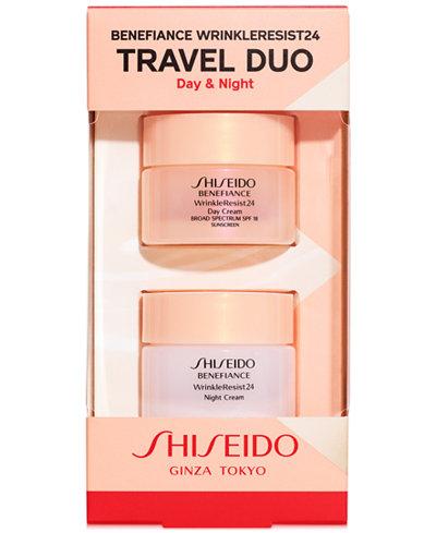 Shiseido 2-Pc. Benefiance WrinkleResist24 Travel Set