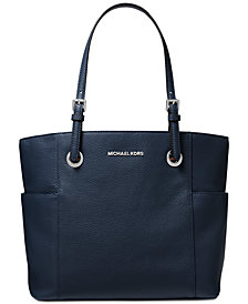 MICHAEL Michael Kors Jet Set Travel East West Pebble Leather Tote