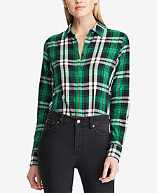 Lauren Ralph Lauren Silk Plaid Shirt