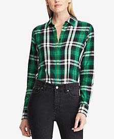 Lauren Ralph Lauren Silk Plaid Shirt