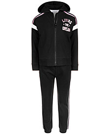 Ideology Little Girls Living The Dream Zip-Up Hoodie & Jogger Pants, Created for Macy's
