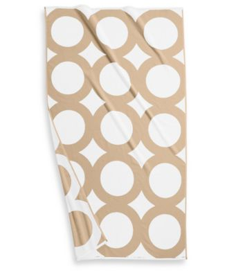 "Circle Turkish Cotton 40"" x 70"" Geo Resort Towel, Created for Macy's"
