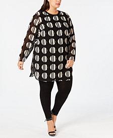 Calvin Klein Plus Size Printed Tunic
