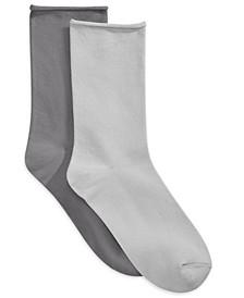 2 Pack Pillow Crew Socks