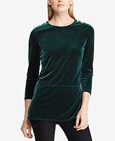 Lauren Ralph Lauren Velvet Tunic Top