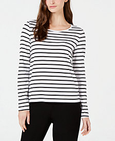 Eileen Fisher Organic Cotton Striped Top