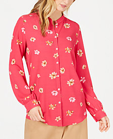 Marella Poltava Floral-Print Button-Up Top