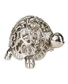 Mind Reader Turtle Candle Holder, Silver