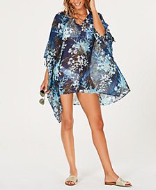 Tommy Hilfiger Cold-Shoulder Kaftan Cover-Up