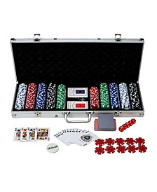 Blue Wave 500-Piece Poker Set