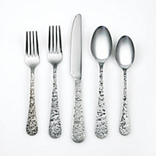 Cambridge Kashmira Antique Pewter 20-Piece Flatware Set