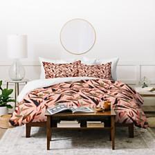 Deny Designs Holli Zollinger Anthology Of Pattern Elle Bird Of Paradise Pink Twin Duvet Set